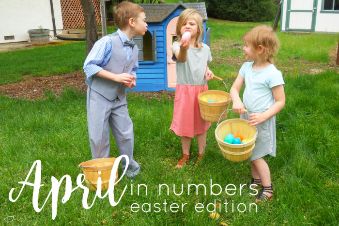 April in numbers, month in review, spring, easter