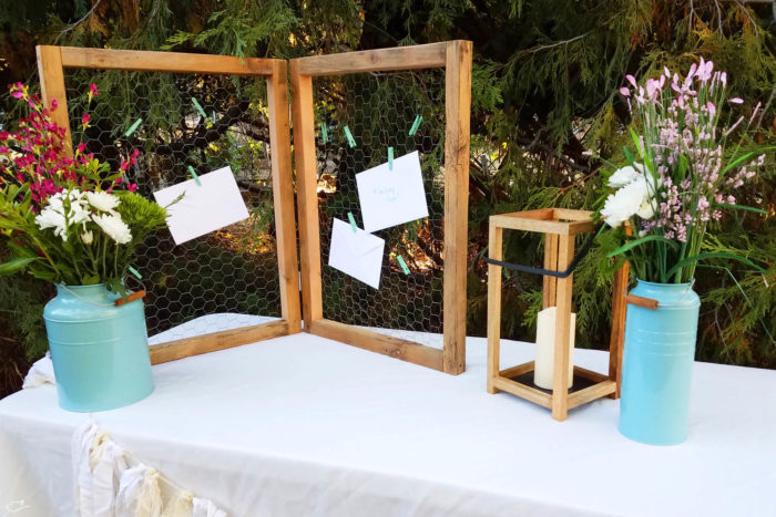 diy rustic card display with American Greetings and Walmart
