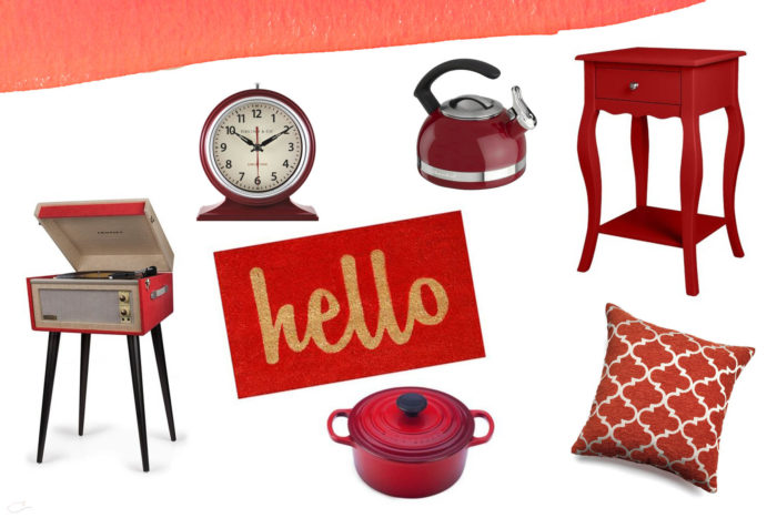 Year of color, July, red, home decor