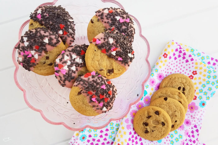 Simple holiday cookies, Valentine's Day