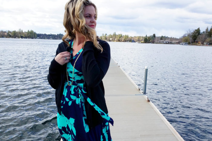 Justine Young, lifestyle blogger, writes a love letter to herself in a sponsored post with PinkBlush maternity clothing.
